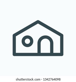 Mouse house isolated icon, hamster home linear vector icon