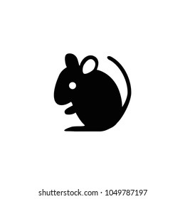Mouse icon. Vector mouse silhouette