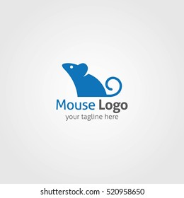 Mouse Logo Design Template. Vector Illustration