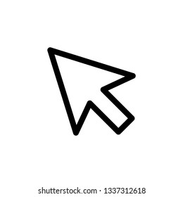 Mouse pointer icon outline simple flat style illustration isolated.
