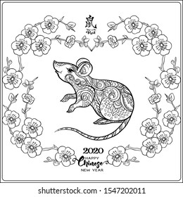 Chinese New Year 2020 Coloring Pages and Activities YEAR OF THE RAT   280x260