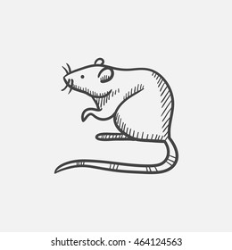 Mouse sketch icon for web, mobile and infographics. Hand drawn vector isolated icon.