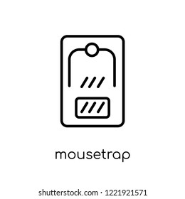 mousetrap icon. Trendy modern flat linear vector mousetrap icon on white background from thin line Electronic devices collection, outline vector illustration