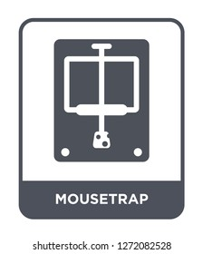 mousetrap icon vector on white background, mousetrap trendy filled icons from Electronic devices collection, mousetrap simple element illustration