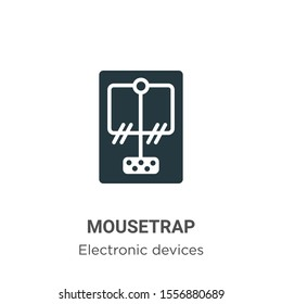 Mousetrap vector icon on white background. Flat vector mousetrap icon symbol sign from modern electronic devices collection for mobile concept and web apps design.