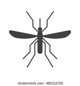 Mousquito outline icon. Bloodsucking midge silhouette vector illustration.