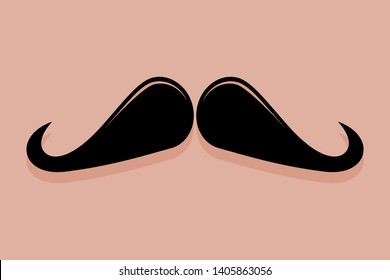 Moustache icon vector in the ringmaster style
