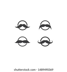 Moustache logo template vector icon