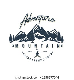 Moutain adventure logo design