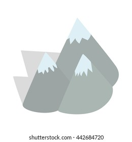 Moutains, Sweden icon in isometric 3d style on a white background