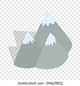 Moutains, Sweden isometric icon 3d on a transparent background vector illustration