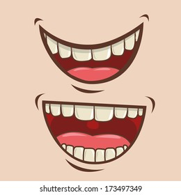 mouth design over pink background vector illustration