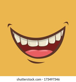 mouth design over yellow background vector illustration