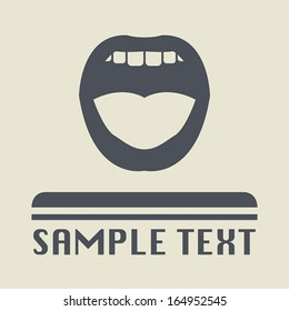 Mouth icon or sign, vector illustration