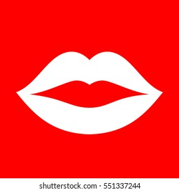 Mouth lips vector icon