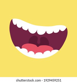 Mouth That Laughs with Teeth Vector
