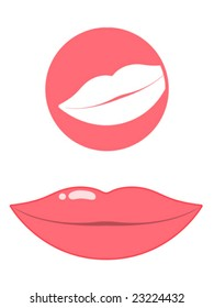 Mouth/lips pictogram - vector