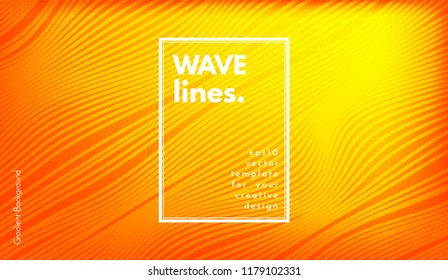 Movement Abstract. Wave Stripes. Geometric Template with Distorted Lines and Gradient. Flow Background in Minimal Style. Eps10 Vector. Cover with Movement for Poster, Brochure, Business Design, Blank.