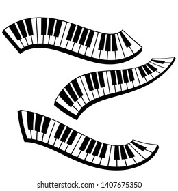 Movement curve of Keyboard piano, musical instrument element vector