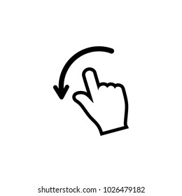 Movements with hands vector icon