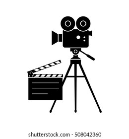 Movie camera vector icon