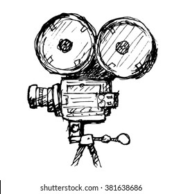 Movie Camera Vector sketch