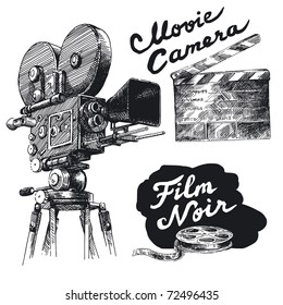 movie camera-original hand drawn collection