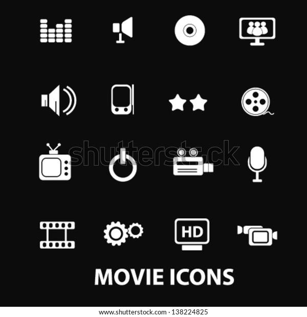 Movie Cinema Media Music Tv Video Stock Vector (Royalty Free
