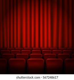 Movie cinema premiere poster design . Vector template background.