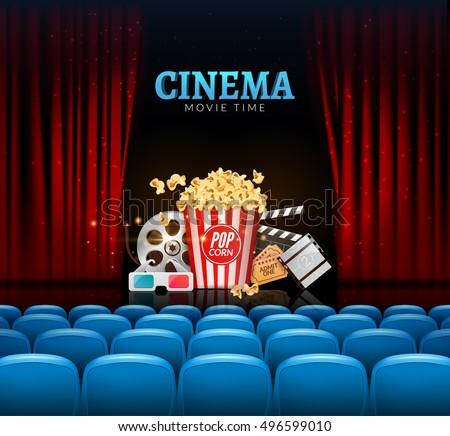 movie cinema premiere poster design vector のベクター画像素材