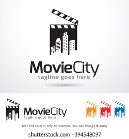Movie City Logo Template Design Vector