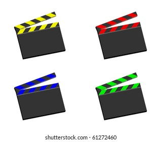 movie clapper board - vector - eps 10