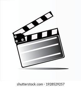 movie clapper board, movie clapper board white and black, Movie Film clapper board. Filmmaking or video movie, cinematography device, film production