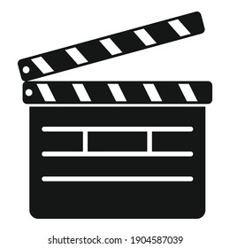 Movie clapper icon. Simple illustration of movie clapper vector icon for web design isolated on white background