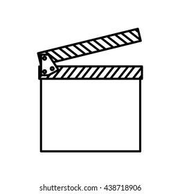Movie concept. classic clapboard icon. vector graphic