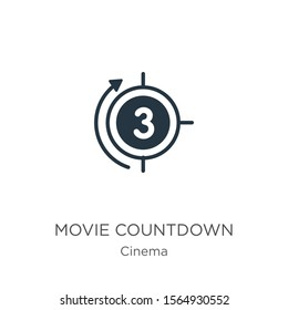 Movie countdown icon vector. Trendy flat movie countdown icon from cinema collection isolated on white background. Vector illustration can be used for web and mobile graphic design, logo, eps10