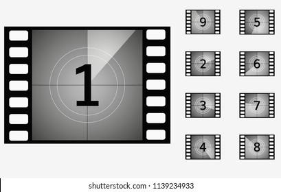 movie countdown timer cinema presentation frame set