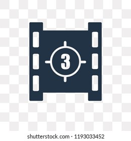 Movie countdown vector icon isolated on transparent background, Movie countdown transparency concept can be used web and mobile