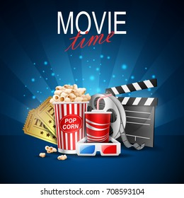 movie design above background blue.vector illustration