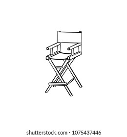 Movie director chair hand drawn outline doodle icon. Chair of Movie director vector sketch illustration for print, web, mobile and infographics isolated on white background.