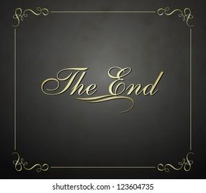 Movie ending vector screen