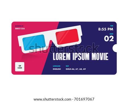 movie entrance vector tickets templates ticket stock vector royalty
