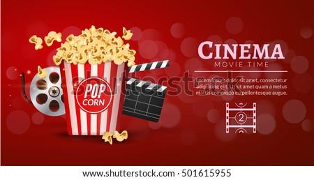 movie film banner design template cinema のベクター画像素材