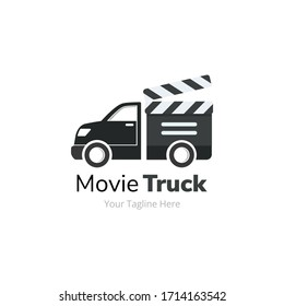 Movie Film Delivery Truck Logo Design