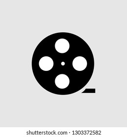 Movie film icon. Element of Theatre icon for mobile concept and web apps. Detailed Movie film icon can be used for web and mobile