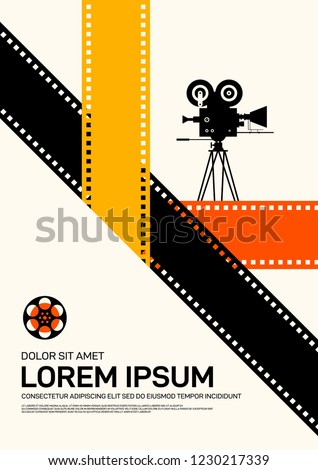 movie film poster design template background stock vector royalty