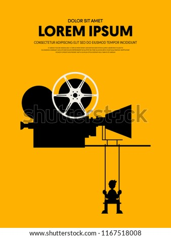 movie film poster template design modern stock vector royalty free