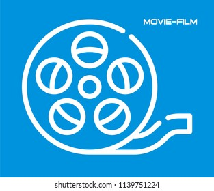 MOVIE FILM REEL VECTOR ICON