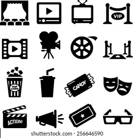 Movie Theater Icon Set Images Stock Photos Vectors Shutterstock