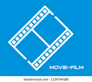 MOVIE FILM VECTOR ICON